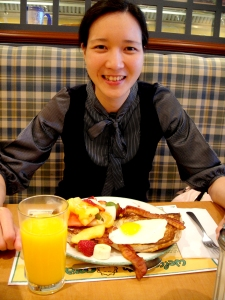 Had a breakfast with my friend in Cora yesterday. :)